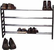 Lot de 2 étagères à chaussures extensible de 58