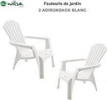 Lot de 2 fauteuils adirondack résine