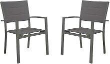 Lot de 2 fauteuils de jardin empilables OLERON en