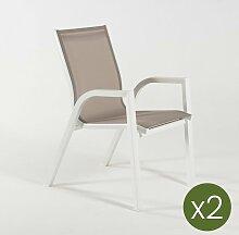 Lot de 2 fauteuils de Jardin empilables | Taille?: