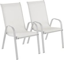 Lot de 2 fauteuils de jardin en acier assise
