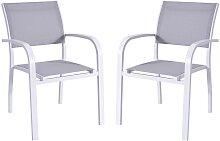 Lot de 2 fauteuils de jardin PAIA empilables en
