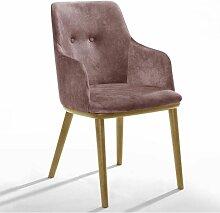 Lot de 2 fauteuils de table MODENE Rose - Rose