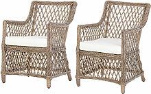 Lot de 2 fauteuils lounge de jardin style cosy