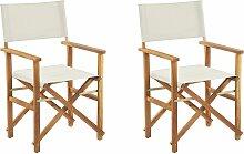 Lot de 2 fauteuils metteur en scène bois clair /