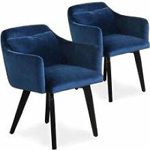 Lot de 2 fauteuils scandinaves Gybson Velours Bleu