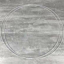 Lot de 2 Grands Cercles métalliques Blanc diam.