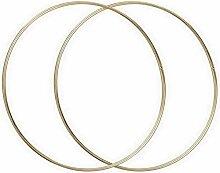 Lot de 2 Grands Cercles métalliques doré Ancien,