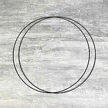 Lot de 2 Grands Cercles métalliques Noir, diam.