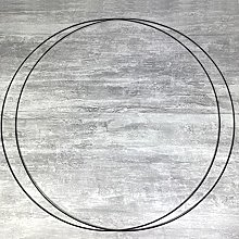 Lot de 2 Grands Cercles XXL métalliques Noir,