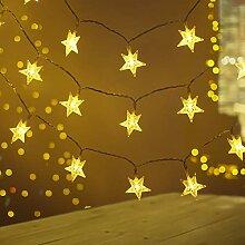 [Lot de 2] Guirlande Lumineuse Étoile, FOCHEA 50