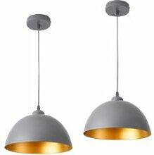Lot de 2 lampes à suspension éclairage