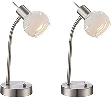 Lot de 2 lampes de table LED ELLIOTT flexibles