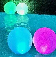 Lot de 2 lampes flottantes Wyobuff - Boule solaire