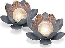 Lot de 2 lampes solaires décoratives en forme de