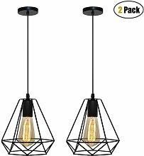 Lot de 2 Lampes Suspensions Moderne 20cm, iDEGU