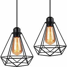 Lot de 2 Lustre Suspension industrielle E27 ,Lampe