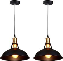 Lot de 2 Lustre Suspension Industrielle Vintage