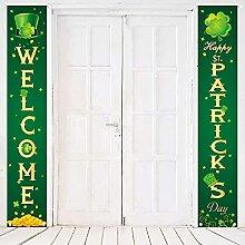 Lot de 2 panneaux de porche de la Saint-Patrick -