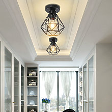 Lot de 2 Plafonnier Nordique Industriel E27 Lampe