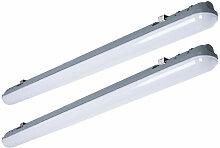 Lot de 2 plafonniers LED 48W baignoires lampes