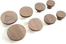 Lot de 2 poignées de meubles scandinaves en bois