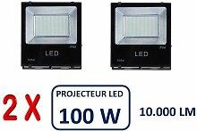 Lot De 2 Projecteurs Led Professionnel Smd 100W
