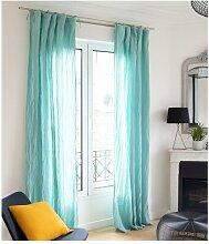 Lot de 2 rideaux en gaze de coton LEGERO - 140 x