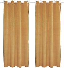 Lot de 2 rideaux LUXE - velours de polyester -