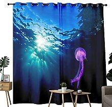 Lot de 2 rideaux occultants en forme de méduse à