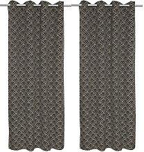 Lot de 2 rideaux style art déco AGATHE - 140x260