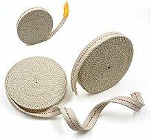 Lot de 2 rouleaux de mèche plate en coton pour