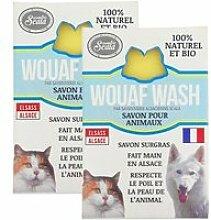 Lot de 2 savons bio wouaf wash pour tous les