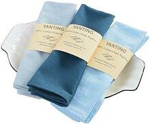 Lot de 2 serviettes de table en tissu 100% coton,