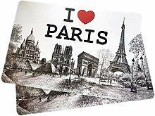 Lot de 2 Sets de Table Love Paris - Collection