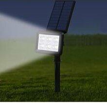 Lot de 2 spots solaires projecteur 2 en 1 à
