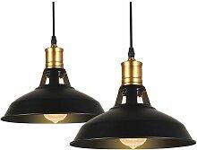 lot de 2 Suspension Luminaire Industrielle Rétro