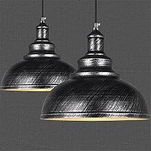 Lot de 2 Suspension Luminaire Industrielle Vintage