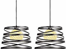 Lot de 2 Suspension Luminaire Moderne, iDEGU
