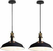 Lot de 2 Suspension Vintage Industrielle Lampe de