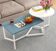 Lot de 2 tables basses créatives en bois - Table