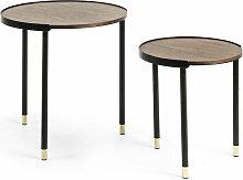 Lot de 2 tables d'appoint Anabel Ø 50 / Ø 38