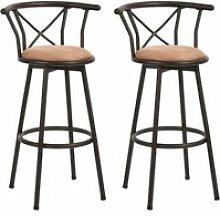 Lot de 2 tabouret de bar hauteur d'assise 77cm