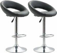Lot de 2 tabourets de bar pablo chaise haute ovale