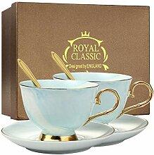 Lot de 2 tasses à thé en porcelaine pour thé du