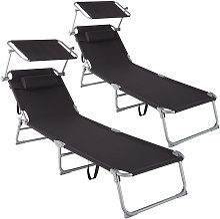 Lot de 2 transats CHLOE - lot de 2 chaises