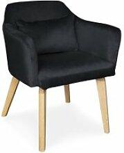 Lot de 20 chaises / fauteuils gybson velours noir