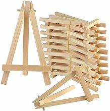 Lot de 20 mini chevalets en bois pour photos de