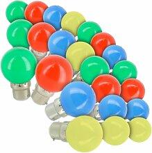Lot de 24 Ampoules LED B22 Guirlande guinguette