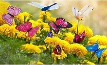 Lot de 24 papillons et libellules pour décoration
